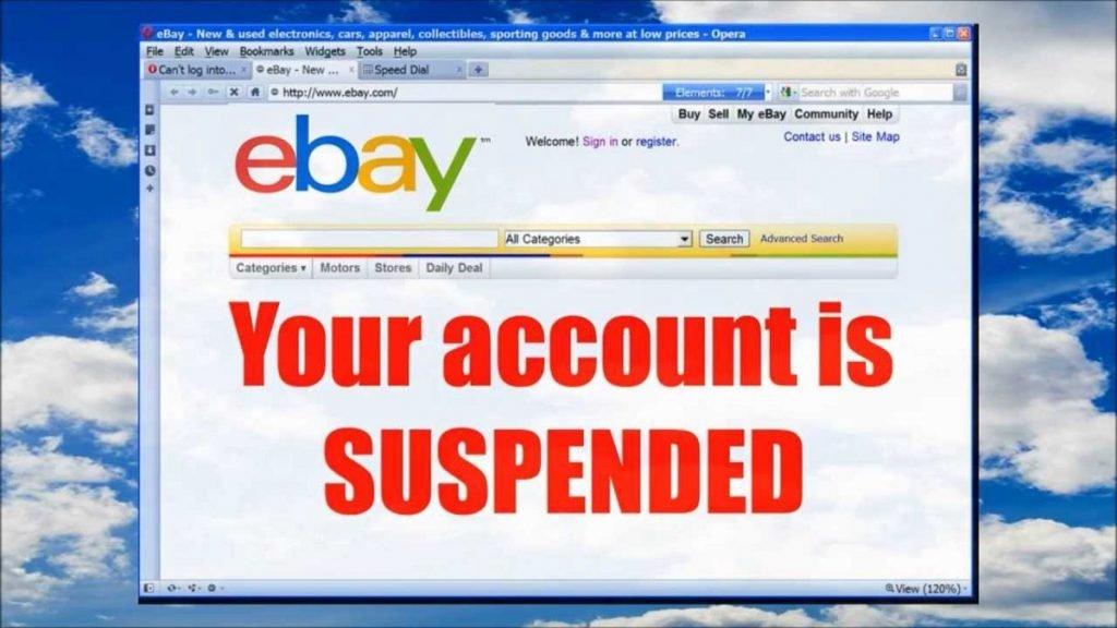 hạn chế tài khoản ebay bị khóa