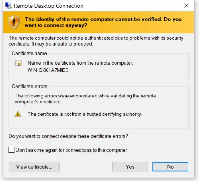 Hướng dẫn tắt Certificate