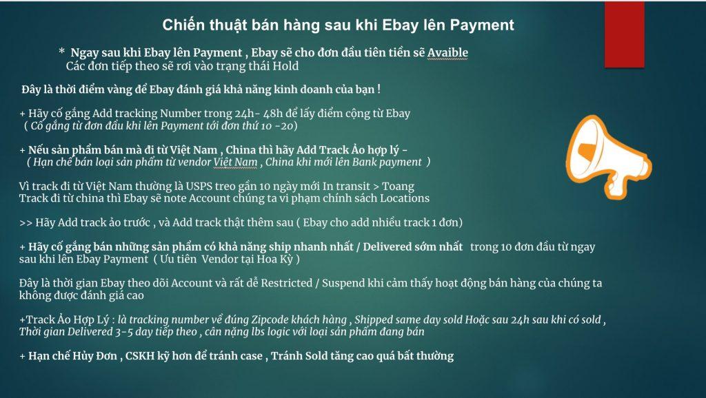 chiến thuật bán hàng ebay