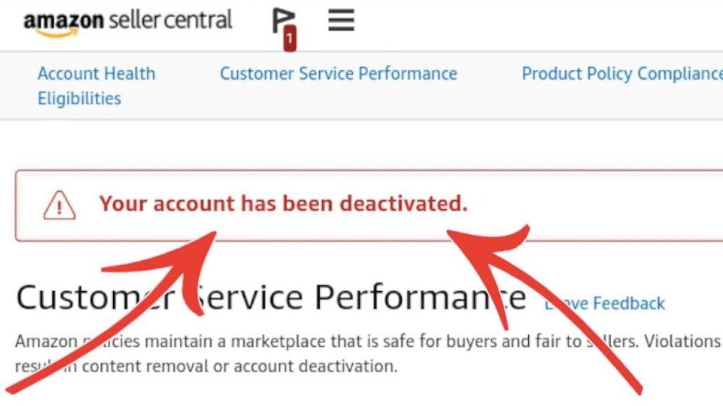 Một số lỗi khiến amazon deactivated