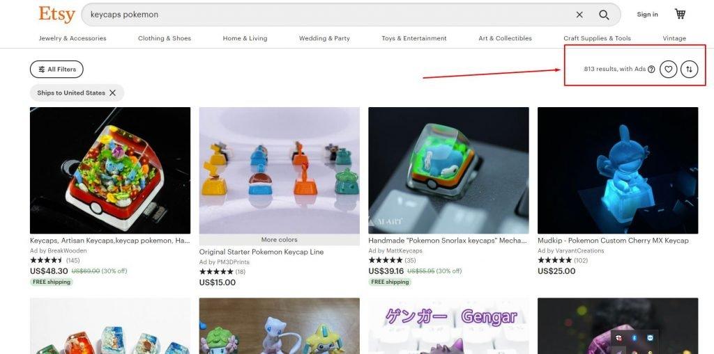 cách tìm sản phẩm đến bán trên Etsy