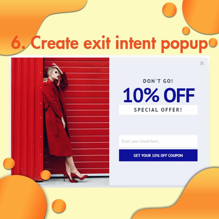 Tạo popup xuất hiện khi người dùng có ý định thoát (exit intent popup)