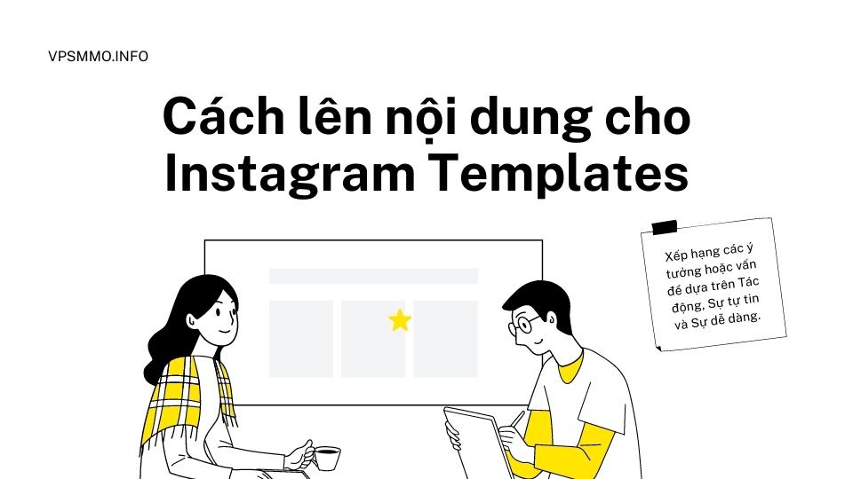 Cách lên nội dung cho instagram templates